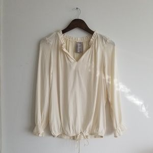 Anthropologie / Dolan Cream Blouse, XS